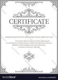 Vertical Certificate Template Diploma