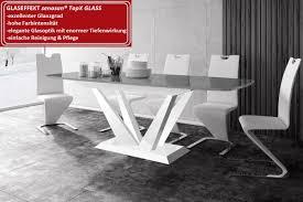 Design Esstisch Hpe 111 Grau Weiß Hochglanz Ausziehbar 160 208