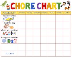 Printable Chore Chart For 5 Year Old 5 Year Old Reward Chore Chart Free Educative Printable