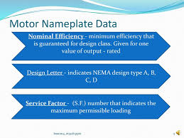 Motor Design Class Lesson 14 Nema Designs And Induction Motor Nameplate Data