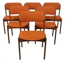 erik buch danish modern teak dining chairs 6 2190