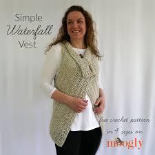 Free Crochet Vest Patterns Extraordinary Simple Waterfall Vest Free Crochet Pattern On Moogly