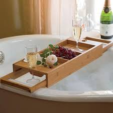 wooden bath tub wine and fruits holder