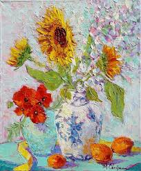 palette knife painting still life with michelle chrisman