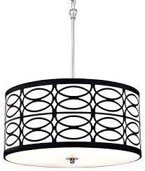 circular lamp shade 4 light pendant with round drum shade chrome white circular lamp shade large