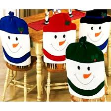 household dining table set christmas snowman knife:  pieces set new christmas chair covers cute chair back covers christmas party table christmas
