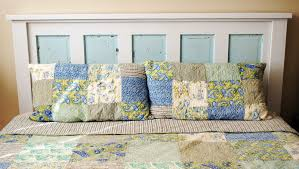 make a headboard out of a repurposed door