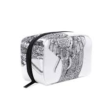 Makeup Case With Lights India Amazon Com Cosmetic Bag Stylish Indian Elephant
