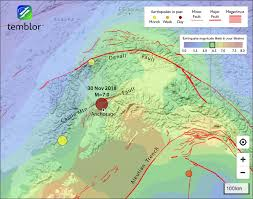 although the quake appears to have struck along the castle mountain fault it probably lies beneath it and is un to it