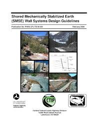 Water Wall Design Guidelines Pdf Shored Mechanically Stabilized Earth Smse Wall