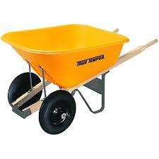 true temper 8 cu ft poly wheelbarrow