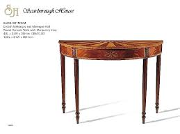half round end table half circle end table awesome console tables half round console table tables