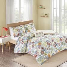 asha 4 piece multi colored king print comforter set