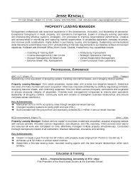 Manager Resume Description Property Manager Resume New Captures