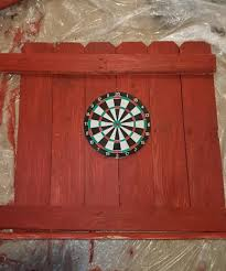 pallet dartboard surround will protect your walls