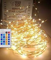 Fairy Lights With Remote Control / Dimmable (66 feet), Warm White LEDs On