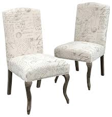french script dining chairs set of 2 chair fabric cute room ideas
