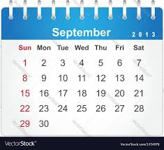 Stylish Calendar Page For September 2013