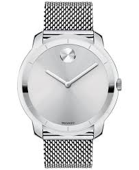 movado bold watches macy s movado unisex swiss bold stainless steel mesh bracelet watch 44mm 3600260