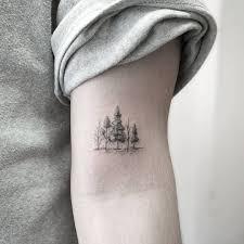 Miniature Tree Line Tattoo татуировки татуировка дерево и тату