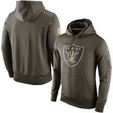 Men's Service Salute Hoodie To Olive Football Raiders Ko Performance Oakland