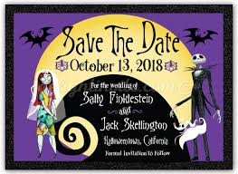 Christmas Wedding Save The Date Cards Nightmare Before Christmas Save The Date Cards Di 5051sd