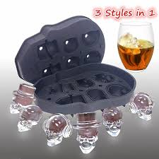 <b>DIY</b> Ice Mold <b>3D</b> Creative Skull <b>Soft Silicone</b> Whisky Ice Mold ...