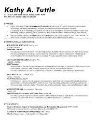 Resume High School High Sample Academic Resume For Professor Sample