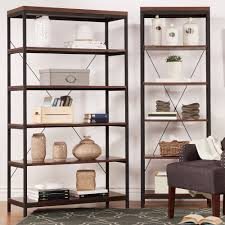 Bunch Ideas Of somme Rustic Metal Frame 6 Tier Bookshelf Media tower by  Inspire Q On Overstock Bookcase