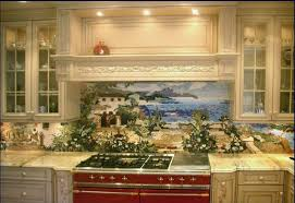custom made kitchen mural backsplash mosaics