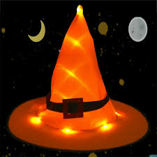 Light Up Witch Hat Details About Halloween Led Light Up Witch Hat Glowing Witches Cap Decor Props W Hanging Uk