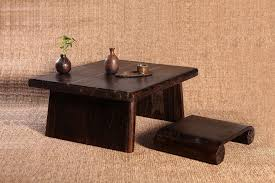 japanese antique table rectangle 8070cm paulownia wood asian traditional furniture living room low floor cheap asian furniture