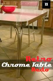 Old Coffee Table Makeovers Retro Chrome Table Redo Redo It Yourself Inspirations Retro