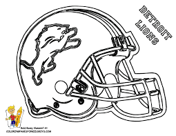 detroit lions football helmet coloring pages
