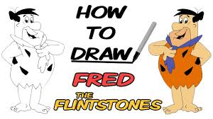 how to draw fred flintstone the flintstones cartoons sd drawing