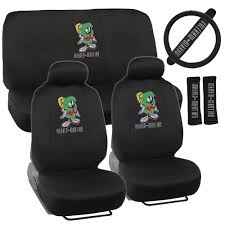 marvin the martian car seat covers 9pc full set front rear