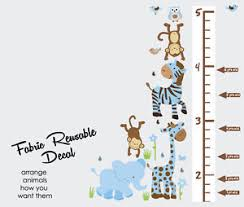Wall Chart Jungle Details About Growth Chart With Jungle Animals Height Wall Chart Wall Decal Kid Decals