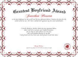 Greatest Boyfriend Award Certificate Created With Certificatefun Com