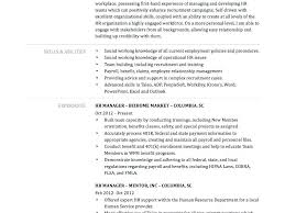 Human Resource Resume Objective Human Resources Professional Resume Human Resources Job Resume 92