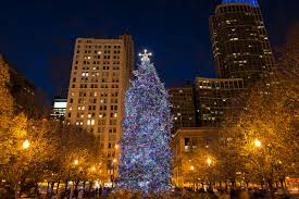 Daley Center Tree Lighting City Of Chicago Christmas Tree Things To Do In Chicago