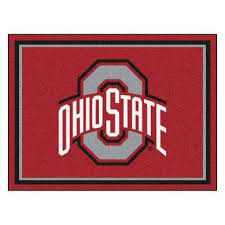 ncaa ohio state university red 8 ft x 10 ft indoor area rug