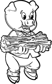 Three Little Pig Coloring Pages Vitlt To Print Free Coloring Books