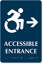 Handicap Bathroom Signs Stunning Accessible Door Signs