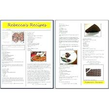 Recipe Template Word Cookbook Template Word Front Page And Of Cooking Newsletter