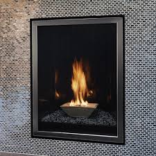 27 forest hills contemporary portrait clean face direct vent fireplace with liner lighting