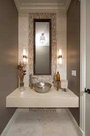 R Modern Contemporary Powder Room With Travertine Tile Contemporarypowder Room