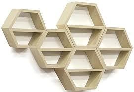 Floating Shelves Kmart Interesting Hexagonal Wall Shelf Wall Mounted Floating Honeycomb Shelves Hexagon