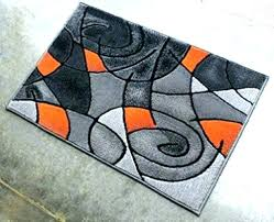 orange and gray rugs orange and gray rugs grey area rug modern contemporary mat black 2 orange and gray rugs