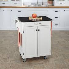 Sunjoy Greenwich White Body with Wood Top Kitchen Cart with 1 Drawer 1  Cabinet and 3 Shelves-120306004W - The Home Depot