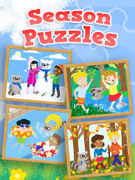 kids season puzzles animated spring summer fall and winter wooden jigsaw puzzle for toddler and preschool boys and girls